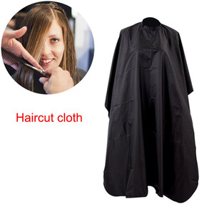 Wholesale ro Handmade Black Salon Barbers Cape Gown Hairdressing Hair Cutting Waterproof Gown Cloth Styling Accessories Haircut Cloth Pro Handmade
