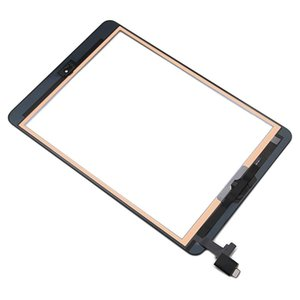 20Pcs Touch Screen Digitizer For iPad Mini 1   2 1st 2nd Gen+IC+Home Button+Adhesive Replacement DHL Free