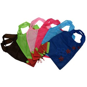 Wholesale Unique Strawberry Folding Reusable Compact Eco Shopping Bag Nylon