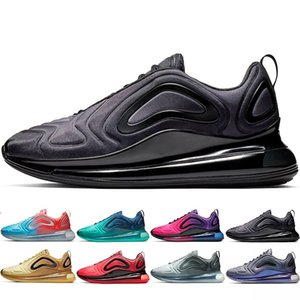 Wholesale 2019 New Shoes Full Cushioned Men Women Neon Triple Black Carbon Grey Sunset Metallic Silver Chaussures Running Shoes EUR Size