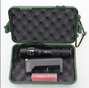 LED Flashlight Ultrafire 2000 Lumens Zoom Adjustable CREE XM-L T6 LED 18650 Flashlight Torch & 1x18650 Battery + Charger & Gift Boxes