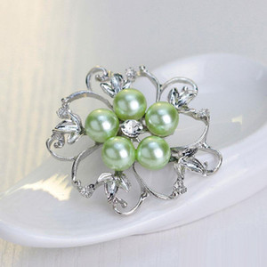 Wholesale New Bride Wedding Bouquet Pearl Crystal Brooch Rhinestone Brooches Pins Corsage Women Wedding Jewelry