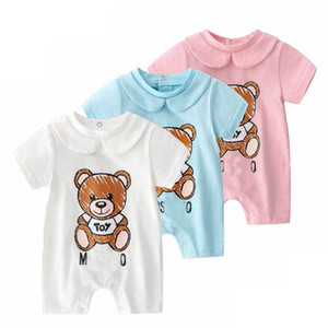 Wholesale baby boy bear clothes for sale - Group buy INS hot Baby Brand Clothes Baby M Toy Bear Romper New Cotton Newborn Baby Girls Boy Toddler Robes Kids Designer Clothes Infant Jumpsuits