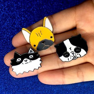 Wholesale Cute Funny Pet Dog Cat Brooches animal Brooch Pins Badge Fashion Jewelry Business Suit Handbags backpack Accessories drop shipping