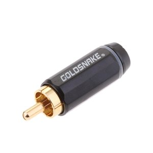 2 Pieces 6.5mm Mono Female Jack to RCA Male Plug Audio Adapter