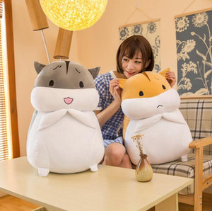 Plush toy fat hamster doll and soft hamster plush pillow birthday gift Children's plush toys 25CM