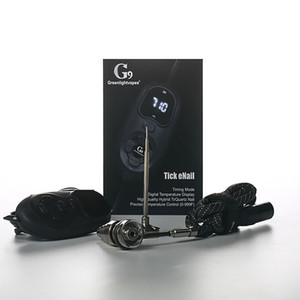 Electronic G9 Tick Enail Nail Dabber Temperature Control Box With Titanium Nail Carb Cap Water Pipes Bong Wax Vaporizer