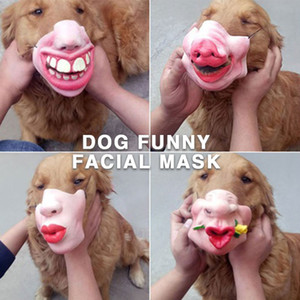 Wholesale 8 Style Durable Masked Dog Halloween Gifts Half Face Mask Prank Kidding Mask Pet Masquerade Uniform Code Funny Toys Muzzle