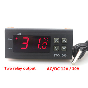 Wholesale STC Digital Temperature Controller Two Relay Output LED Thermostat Incubator DC V Thermoregulator with Heater and Cooler