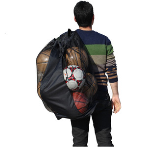 Wholesale coach backpack for sale - Group buy Portable Football Soccer Youth Traing Course Mesh Bag Canvas Backpack Adjustable Shoulder Strap Coach Sporting Equipment Accessories
