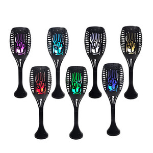 Solar Torch Light Outdoor, 7 Changing Colors Garden Flickering Flame Lights Landscape Decoration Lighting Dusk to Dawn Law