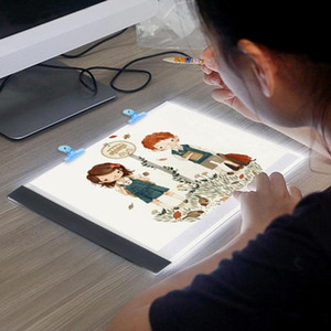 ingrosso luce di tracciamento principale-Tabelle digitali LED A5 Light Box Graphic Tablet Writing Painting Dimmerabile Luminosità Tracing Board Copy Pad Disegno digitale