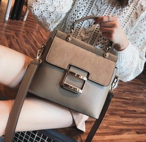 Wholesale 2019 spring new women s bag Korean fashion wide shoulder strap portable Messenger small square bag Scrub shoulder bag