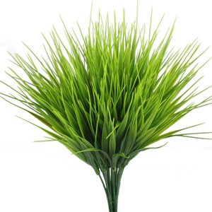 Wholesale Artificial Outdoor Plants Fake Plastic Greenery Shrubs Wheat Grass Bushes Flowers Filler Indoor Outside Home House Garden Office Decor