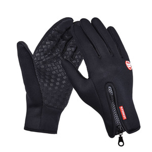 Wholesale Outdoor Sports Hiking Winter Bicycle Bike Cycling Gloves For Men Women Windstopper Simulated Leather Soft Warm Gloves S1025