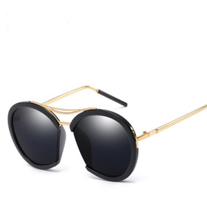 Wholesale semi film for sale - Group buy Fashion Women Personality Semi Rimless Sunglasses Round Frame Sun Glasses Goggles Anti UV Spectacles Color Film Eyeglasses SUN Glasses A