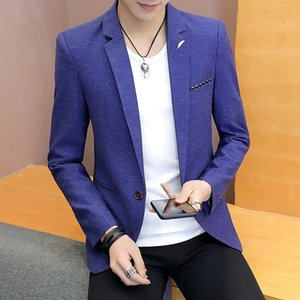 Wholesale The new man autumn leisure wave point suit suits young fashion cultivate one s morality