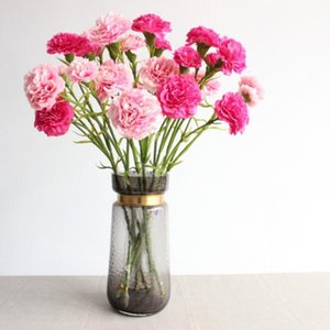 Wholesale decorations resale online - Artificial flowers Mother s day silk flower High quality heads silk artificial Carnations flower for home decoration