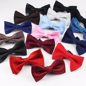 New Style Plaid Children Bowtie Polester Bowties Baby Kid Kids Classical Pet Striped Butterfly Elastic Cord Bow Tie