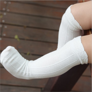 Toddler Socks Baby Knee High Sock Solid Color Children Black White Long Sock Infant Baby Girl Warm Leg Warmers Kids Cotton Socks on Sale