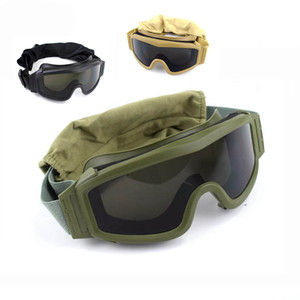 Wholesale tactical lenses for sale - Group buy Black Tan Green Tactical Goggles Shooting Sunglasses Lens Army Paintball Motorcycle Windproof Wargame Glasses