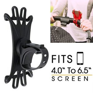 Baby Stroller Accessories Universal Mobile Phone Holder Silicone Motorcycle Bicycle Mount Holder For iPhone GPS Device