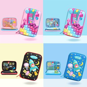 Wholesale Kids Portable Pencil Case Cratoon Stars Animal Letter Dot Printed Multi function Zipper UNBreak Pencil box Baby Girl Purse Storage Bag