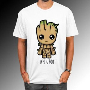 Wholesale Guardians Of The Galaxy Men T Shirt Anime Baby Pop Groot Summer Funny I Am Groot T Shirt Male Cool Tops Tees Homme Tshir La633