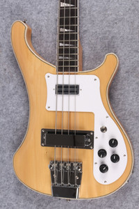 4 Strings bass natural wood 4003 ric Electric Bass Guitar Neck Thru Body One PC Neck & Body Good Binding Body Mono and Stereo output