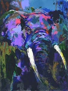 Wholesale elephants home decor for sale - Group buy LEROY NEIMAN PORTRAIT OF THE ELEPHANT Home Decor Handpainted HD Print Oil Painting On Canvas Wall Art Canvas Pictures