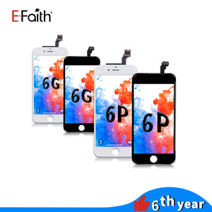 EFaith No Dear Pixel High Quality LCD Display For iPhone 6 Touch Digitizer Complete Screen with Frame Assembly Replacement For iPhone 6 Plus