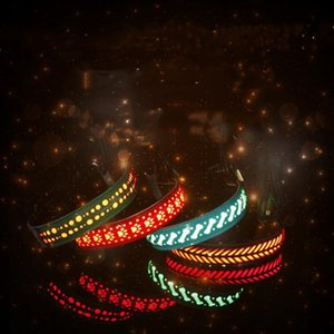 Wholesale L S M size stylish dog and cat necklaces with leather Led collars pet collars glow collars pet leash T2I5117