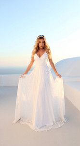 New Summer Women Chiffon White Dress V Neck Lace Long Dresses Sexy Bandage Back Beach Maxi Dress Wedding Dresses