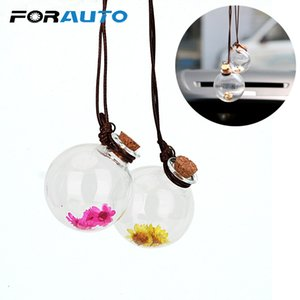 Wholesale Empty Glass Bottle Fragrance Car styling Air Freshener Car Hanging Perfume Pendant Auto Decoration For Essential Oils Diffuser