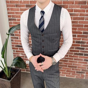 Wholesale Men s skirt vest slim fit men s suit vest Gilet Homme casual sleeveless formal business jacket vests