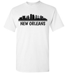 New Orleans Skyline T-Shirt, Men Women Youth Tank Long Sleeve Personalized Tee