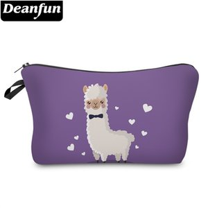 Deanfun Waterproof Cosmetic Bag Printing Heart Cute Llama Makeup Bag Alpaca Toiletry Storage Gift Dropshipping 51364