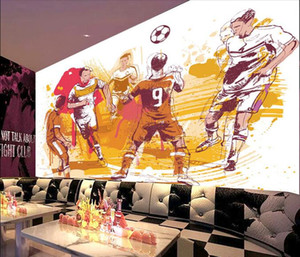 Wholesale office illustrations resale online - WDBH d wallpaper custom photo Hand drawn illustration football bar living room office Home decor d wall murals wallpaper for walls d