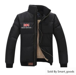 Winter Warm White Down Jacket Coat Men Down-jacket Coat Stand Collar Warm Flag Famous Pony Down Jacket