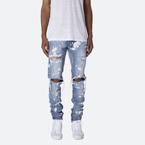 New Style Fashion Mens Designer Jeans High Quality Shredded Feet Pants Trend Hip Hop Mens Slim Jeans on Sale