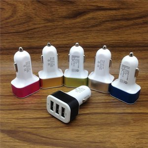 USB Car Charger 5v Triple USB 3 Port Car Charger driving Adapter Power bank for Universal phone 3 Port Phone Charger Adapter