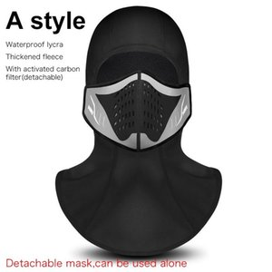 Wholesale Winter Cycling Face Mask Men Women With Cap Thermal Fleece Riding Equipment Layer Windproof Dustproof Outdoor Ski Cycling Masks