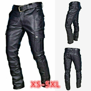 Wholesale men's leather pants for sale - Group buy New Winter Spring Men s Skinny Leather Pants Fashion Faux Leather Trousers Male Trouser Stage Club Wear Biker Punk Gothic Pants