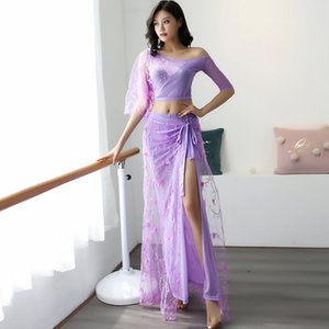 Wholesale Belly Dance Practice Clothing Female New Oriental Dance Fairy Performance Long Dresses Belly Tops Skirt For Women DQL2566