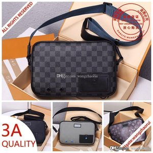 ALPHA Designer Messenger bag M52767 fashion brands canvas Crossbody Bags real leather purse shoulder bag M44165 Men wallet withbo