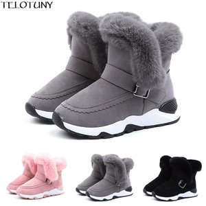 Wholesale Winter Baby Winter Kids Baby Infant Boys Girls Child Fur Flock Bootie Warm Snow Shoes Boots Shoes For Girls Boys YE11