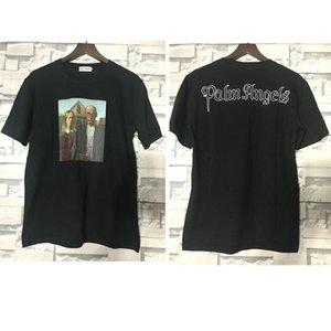 Wholesale Palm Angels T Shirt D Printing Couple Lovers Casual Cotton Palm Angels T shirts High Quality Fashion Palm Angels Top Tees
