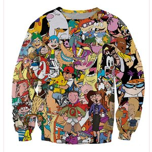 Wholesale 2019 Post 90s Cartoon Print 3d Sweatshirt Men women Cartoon Hoodies Clothes Moleton Masculino Size Xs-7xl Free Shipping