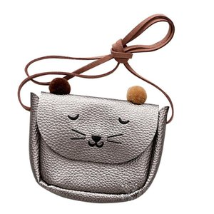 Children Shoulder Bag Mini Cat Ear Messenger Bags Simple Small Square Bag Kids All-match Key Coin Purse Cute Princess Handbags on Sale