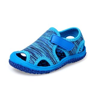 Wholesale Summer Baby Girls Boys Sandals Children Beach Sandals Soft Bottom Non-slip Infant Shoes Kids Outdoor Anti-collision Shoes Y19051403